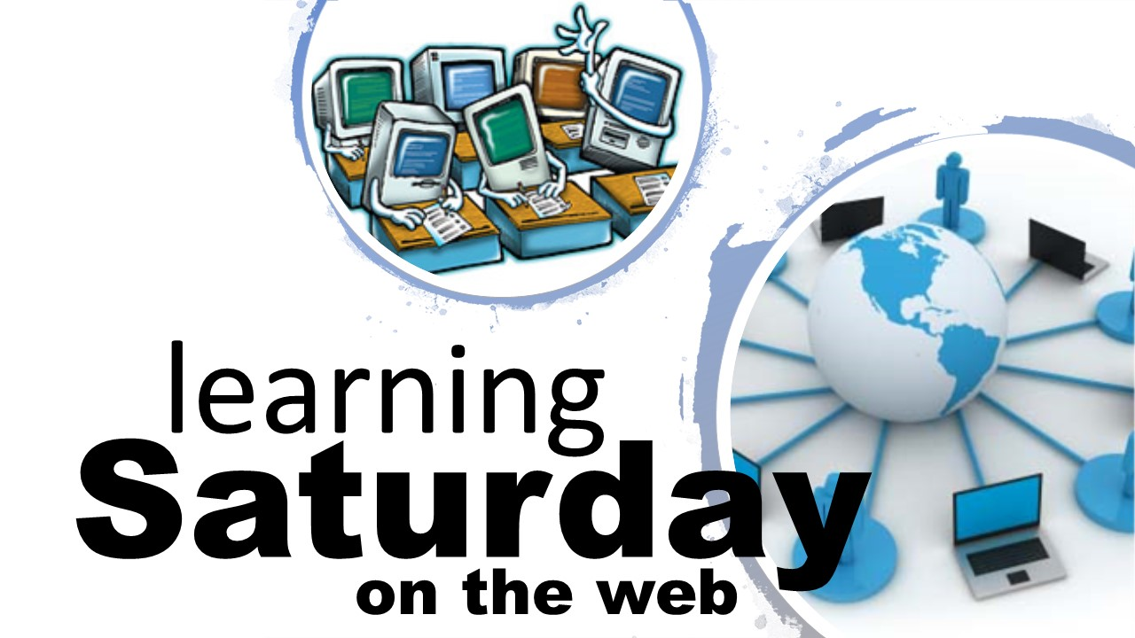 Learning Saturday on the Web graphic image
