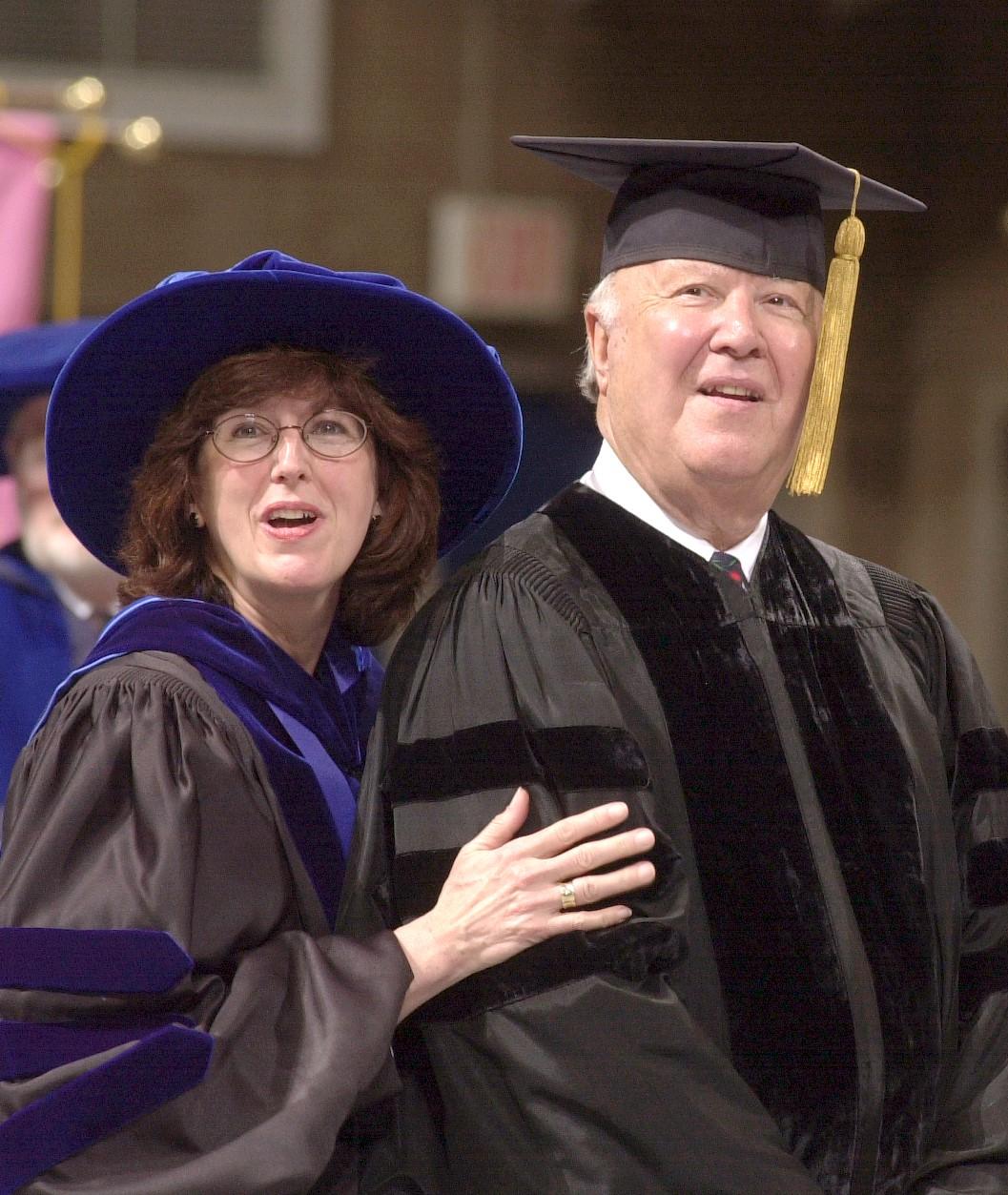 Sally Reis and Ray Neag at UConn Graduation