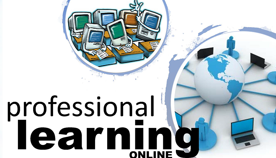 graphic of professional learning online