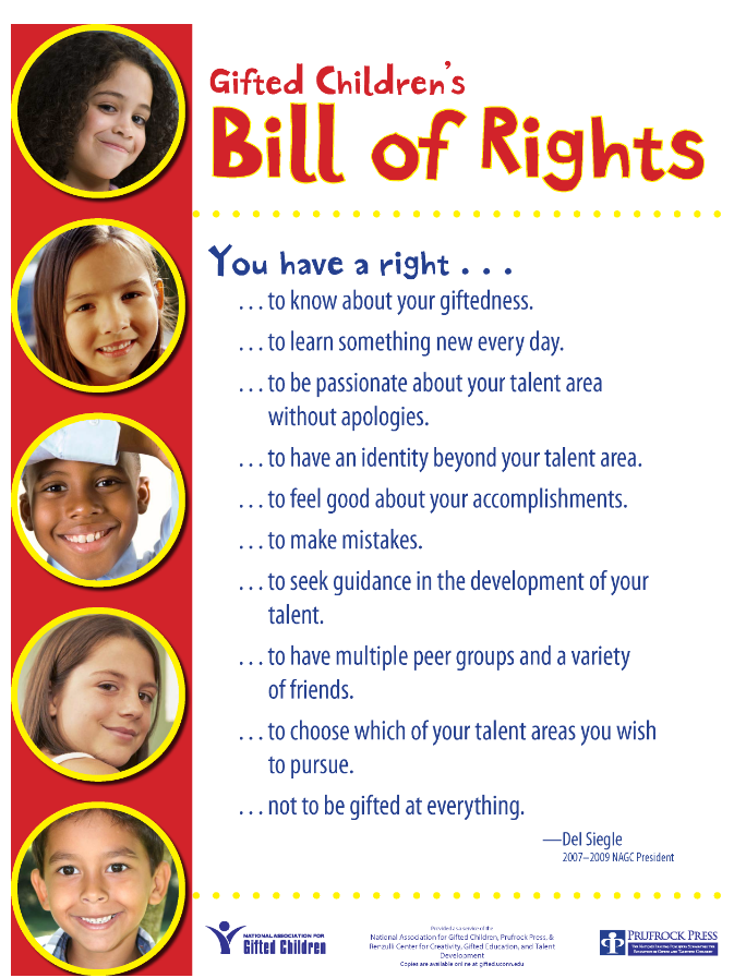 Thumbnail of Gifted Bill of Rights