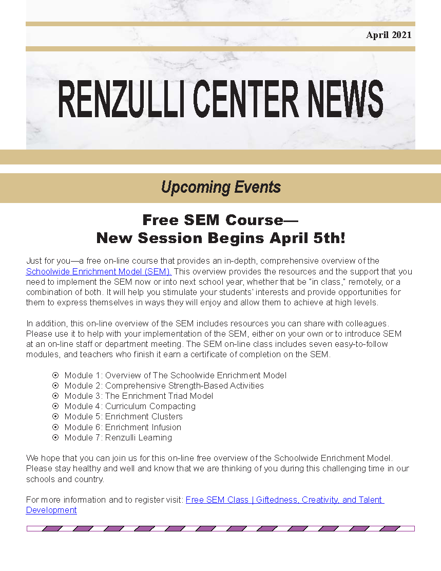 April 2021 Renzulli News Cover Graphic