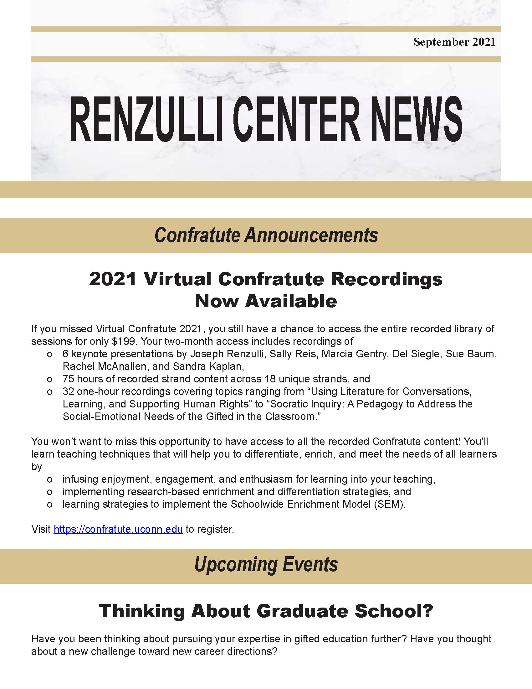 September 2021 Renzulli News Cover Graphic